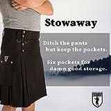 Damn Near Kilt 'Em Men's Stowaway Kilt XX-Large Brown