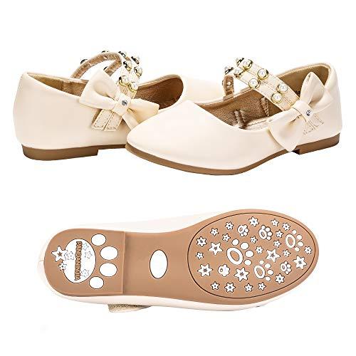 PANDANINJIA Toddler/Little Kids Cheryl Princess Uniform School Ballet Flower Mary Jane Girls Flats Dress Shoes ()