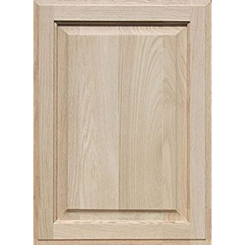 Unfinished Oak Cabinet Door, Square With Raised Panel By Kendor 22H X 16W