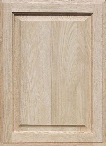 Oak Front Door (Unfinished Oak Cabinet Door, Square with Raised Panel by Kendor 22H x 16W)