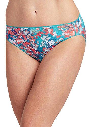 Jockey Women's Underwear No Panty Line Promise Tactel Bikini, Lilac Summer, 6