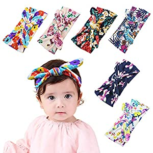 Yukoi Baby Girls Headbands Hairbands Hair Bow Elastics Bands Hair Accessories for Infants Toddlers Kids Teen