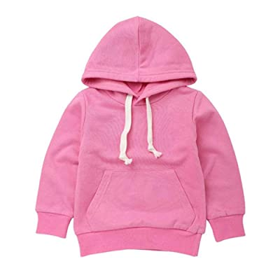 Outfits For Girls, VEKDONE Autumn Children Kid Boy Solid Pocket Pullover Hooded Hoodie Outfits Tops Clothes: Clothing