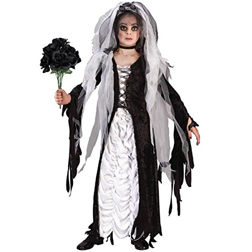 Kids Costumes Bride Of Darkness (Coffin Bride Child Costume Medium (8-10))