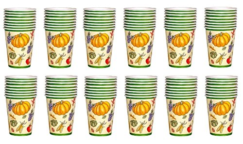 Fall Harvest Theme Cold or Hot Cups Size 9 0z - 96 (Food Lion Halloween Cakes)