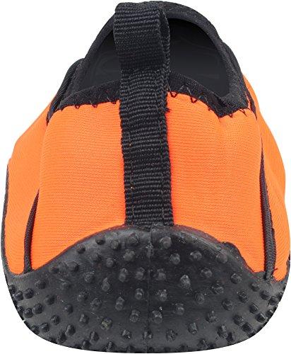 Enimay Männer und Frauen Slip auf Kordelzug Strand Sommer Urlaub Wassersport Aqua Schuh Wake - Orange | schwarz