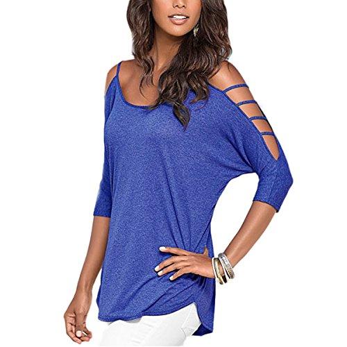 JLTPH Casual Top Tumblr Manica Sexy Maglietta Elegante Off Camicetta Corta Ragazza Shoulder Camicie 3 Blusa 4 Donna 5 AIfEwUq