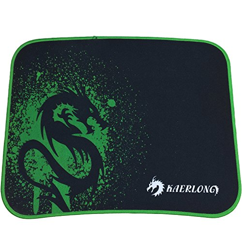 Green Dragon Gaming Mouse Pad with Low Friction Tracking Frosting Surface -11.8x9.8x0.12in - Works with World of Warcraft,Warlords of Draenor,Call of Duty,Black Ops,Overwatch,LOL