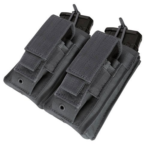 Pouch Rifle Mag - Condor Double Kangaroo Mag Pouch Black