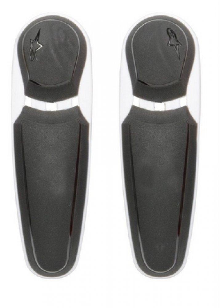 Alpinestars - Boot Spares - Toe Sliders - S-MX Plus - 2013-2018 - Black/White 25SLISMX13-10