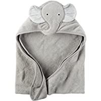 Carter's Hooded Bath Towel - Grey Elephant