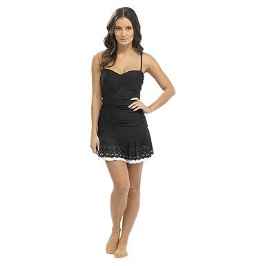 8022597f59 Ladies Tummy Control Swimsuit Floral Swim Dress, Designer Swimwear Costume,  Size 10-22, S473 By Sockstack®: Amazon.co.uk: Clothing
