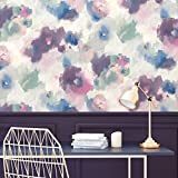 "RoomMates RMK11079WP Peel and Stick Wallpaper, 20.5"" x 16.6 Feet, Pink/Blue"