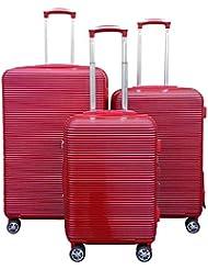 Kemyer Series 850 Expandable Hardside Luggage Spinner Wheeled 3 Pc Set 28,24,20inch