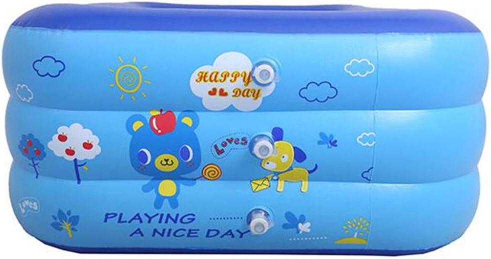 ZGXOAG Piscina Infantil Piscina Infantil Infantil Inflable Rectangular Engrosamiento Jardín Piscina Uso Exterior PVC Azul,Blue-210 * 145 * 63cm