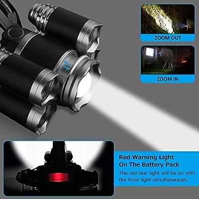 Linterna Frontal LED Recargable Linterna de Cabeza Laluztop 4 ...