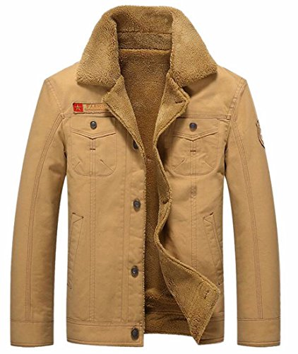 [해외]Jaycargogo 남성 모조 벗길 줄이 그어진 워즈 코트 아웃웨어 겨울 자켓/Jaycargogo Men`s Faux Fur Lined Warm Coats Outwear Winter Jackets