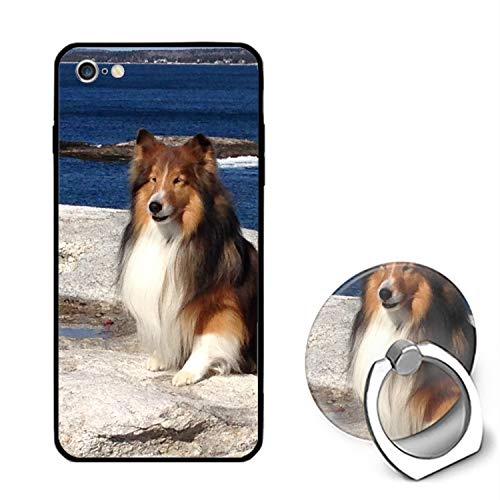 Beach Shetland Sheepdog iPhone 6S Case for Girls,iPhone 6 Case,Hard PC Case with Ring Kickstand Protective Cover for iPhone 6/6S -