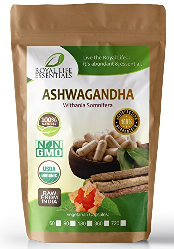 Ashwagandha Root Extract Powder 360 Capsules (caps) - Now 100% Raw Organic Herbal Supplement Superfood - Boost Sexual Vitality Immune System Endurance Energy: Smoothies & Shakes: Vegan & Vegetarian