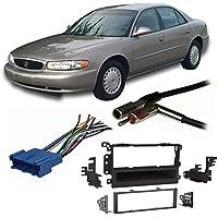 Fits Buick Century 1997-2003 Single DIN Stereo Harness Radio Install Dash Kit