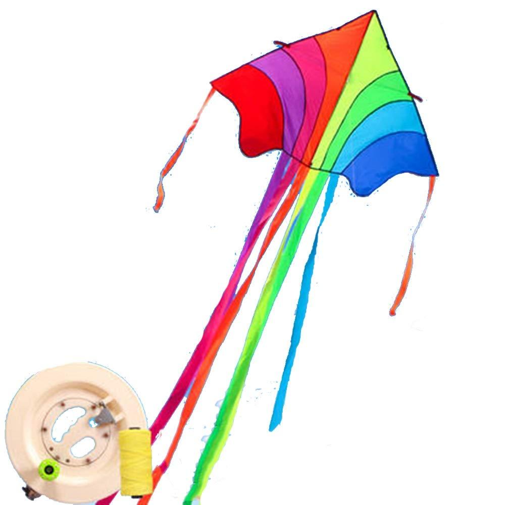 凧,カイトフライング 三角形 大型 ロングテールカイト 三角形 リール 大型 簡単な組み立て B07R329D89 簡単に飛ぶことが容易 屋外のおもちゃを飛ばすのが簡単 B07R329D89, ゼットソーNOCOMART:7a237c19 --- ferraridentalclinic.com.lb