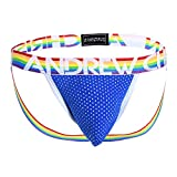Andrew Christian Pride Mesh Jock White/Red/Blue