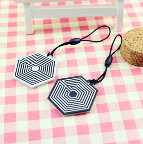 Fanstown EXO overdose pendant phone charm strap(2 colors) (white background)
