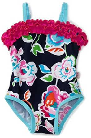 Floatimini Baby Girls' English Garden Swimwear, Multi Colored, 12 18 Months