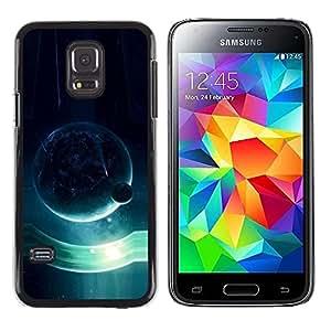 LECELL -- Funda protectora / Cubierta / Piel For Samsung Galaxy S5 Mini, SM-G800, NOT S5 REGULAR! -- Blue Planet --