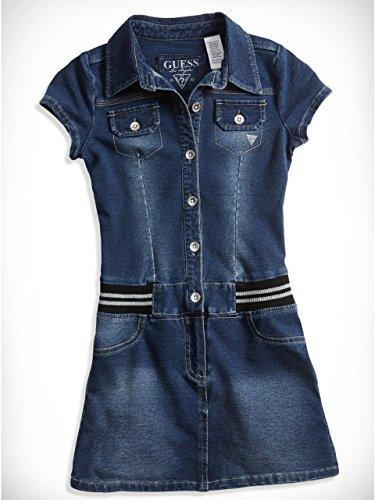 GUESS Kids Big Girl Knit Denim Shirtdress (7-16)