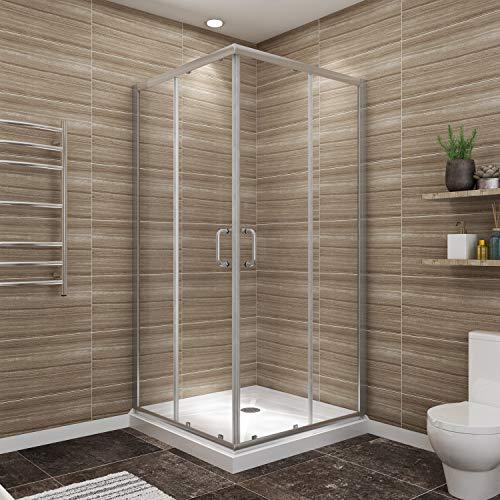 Bath Shower Enclosures - SUNNY SHOWER Door with Shower Base 1/4