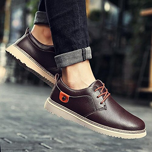 Winter UK6 4 Leather 04 Feifei Fashion Shoes Casual Men's Colors Color EU39 CN39 Shoes Size EXOpwZqn0
