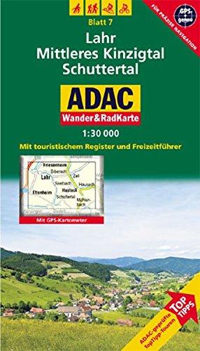 Lahr, Mittleres Kinzigtal, Schuttertal: 1:30000. Schwarzwald. GPS-genau (ADAC Rad- und WanderKarte)