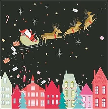 Pack of 5 Santa Sleigh Princes Trust Charity Christmas Cards Xmas Card Packs: Amazon.es: Oficina y papelería