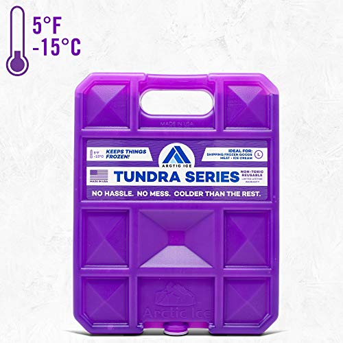 Long Lasting Ice Pack for Coolers, Camping, Fishing and More, Large Reusable Ice Pack, Tundra Series by Arctic Ice]()