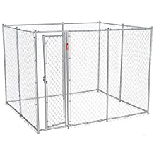 Lucky Dog CL 61028EZ 6-Feet Height  X 5-Feet Width X 10-Feet Length or 6-Feet Height  X 8-Feet Width X 6.5-Feet Length Chain Link Boxed Kennel