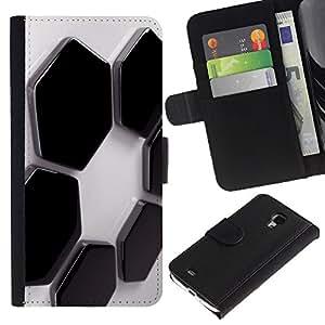 Planetar® Modelo colorido cuero carpeta tirón caso cubierta piel Holster Funda protección Para Samsung Galaxy S4 Mini i9190 / i9195 (Not For S4) ( Abstract Hexagons )