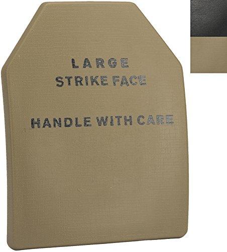 Evike - Lightweight Airsoft Imitation SAPI Plate (Size: Large/Tan/Single - Ballistic Plate Ceramic