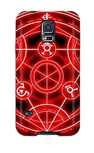 LoiePyj4444clKuF Jorge Johnson Awesome Case Cover Compatible With Galaxy S5 - Red Alchemist Circle Anime Other