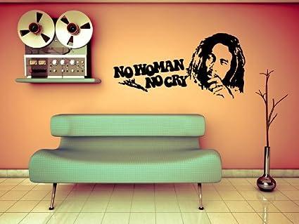 Adesivi Murali Bob Marley.Adesivo Murale Bob Marley Cit No Woman No Cry Wall Sticker