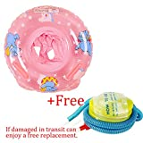 Infant Baby kids Swim Trainer Float,Baby Kids Toddler Inflatable Swimming Swim Ring Float Seat Boat Pool Bath Safety,1 Pack Blue Or Pink For 1-3 Years Old