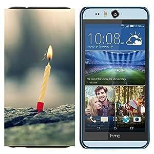 TECHCASE---Cubierta de la caja de protección para la piel dura ** HTC Desire Eye ( M910x ) ** --Vela Un cumpleaños Primera Naturaleza Amor