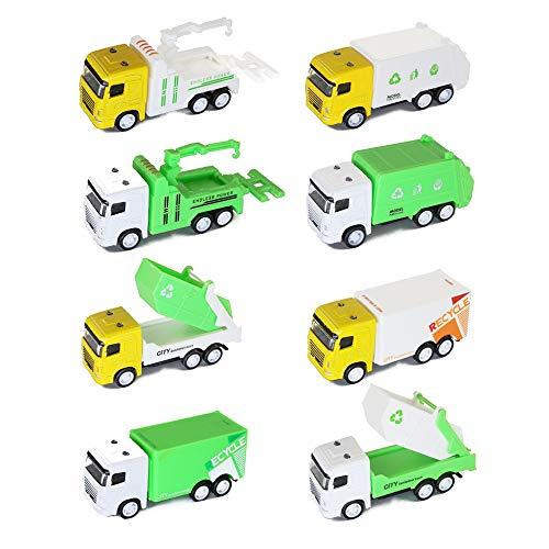 baidercor Mini Toy Cars Garbage Truck Vehicles Set of - Truck Garbage Mini