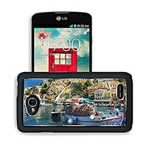 Boat Port City Water Reflection LG Optimus L70 Dual D325 Snap Cover Premium Aluminium Design Back Plate Case Open Ports Customized Made to Order Support Ready 5 2/16 Inch (130mm) X 2 12/16 Inch (70mm) X 11/16 Inch (17mm) MSD L70 Professional Cases Accesso
