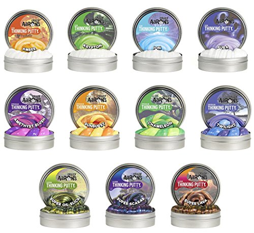 Crazy Aaron's 11 Pack Putty Mini Tin Assortment. by Crazy Aaron's