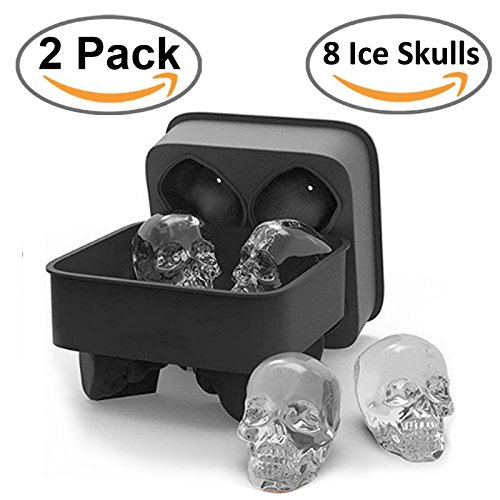 SigmaGo 3D Skull Ice Cube Mold for Whiskey