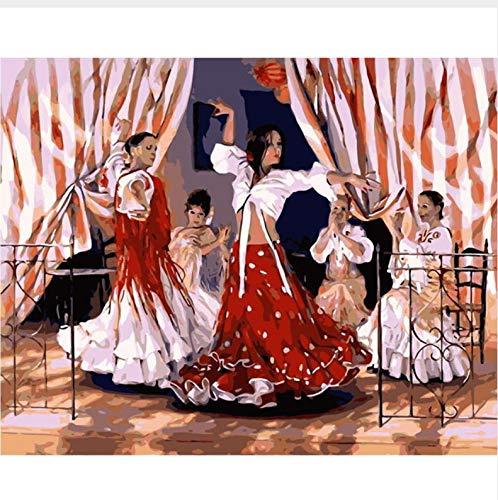 CZYYOU DIY Ballett Ballett Ballett Tänzerin Arcylic Malen Nach Zahlen Auf Leinwand Wandbilder Kunst Für Wohnzimmer Home Decoration, Ohne Rahmen, 50x60cm B07NVBDLQ5 | Langfristiger Ruf  65b659