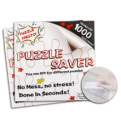 Jigsaw Puzzle Glue Mat Sticks - Saver 1000 Pieces Peel Stick with Strong Adhensive Paper Roll Up Frame Table Clear for Kids or Adult