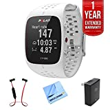 Cheap Polar M430 GPS Running Watch, White (90064405) w/ Extended Warranty Bundle Includes, 1 Year Extended Warranty, Fusion Bluetooth Headphones, 1 Piece Micro Fiber Cloth & Universal Travel Wall Charger