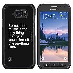 Stuss Case / Funda Carcasa protectora - Danse Quote Noir Blanc - Samsung Galaxy S6Active Active G890A